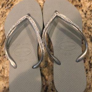 Havaianas swarvoski crystal Flip flops